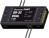 16 csatornás vevő Graupner GR-32 2,4 GHz Dugaszoló rendszer JR (33516) Graupner