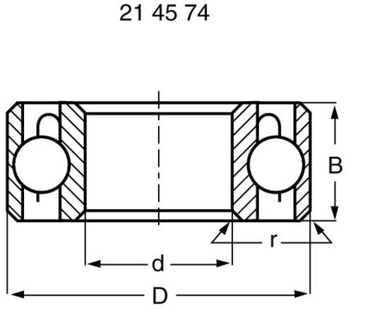 Modelcraft radiális golyóscsapágy, rozsdamentes acél, Ø19 x Ø6 x 6 mm