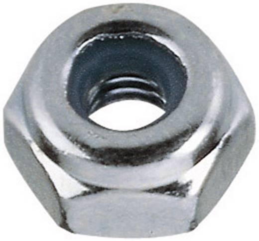 Toolcraft önbiztosító hatlapfejű anya, horganyzott acél, M2, DIN 985, 10 db