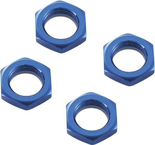 Reely alu önzáró kerékanya, 17 mm, kék, SEM106B