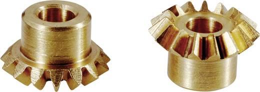 Modelcraft sárgaréz kúpfogaskerék M0,75, 1:1, 15 Z