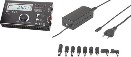 Akkutöltő LiPo, LiIon, LiFe modell akkukhoz 11-15VDC/230VAC, 3,5A, 1/2/3/4 cella, VOLTCRAFT