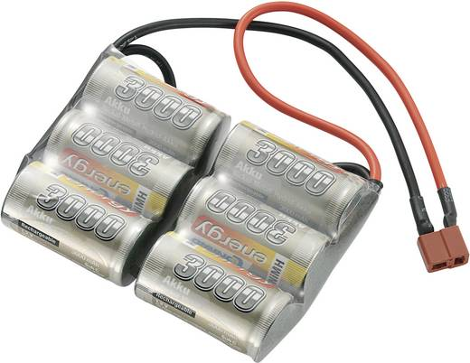 Conrad Energy NiMh SUB-C akkupack saddelpack side 7,2 V 3000 mAh T-csatlakozó