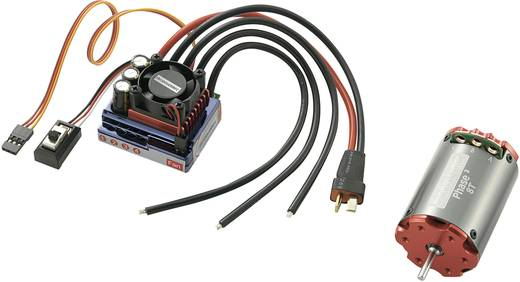 1:10 Brushless meghajtó készlet, PHASE³ 8 Turns, Phase³ programozó kártyával 7.2 - 7.4 V 5050 fordulat/perc Modelcraft