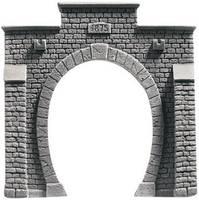 NOCH 48051 PROFI plus TT Tunnel-Portal 1 sínes Keményhab kész modell, Festett NOCH