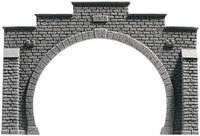NOCH 58042 PROFI plus H0 Tunnel-Portal 2 sínes Keményhab kész modell, Festetlen NOCH