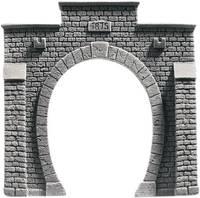 NOCH 34851 PROFI plus N Tunnel-Portal 1 sínes Keményhab kész modell, Festett NOCH