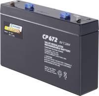 Conrad energy CE6V/7Ah 250129 Ólomakku 6 V 7 Ah Ólom-vlies (AGM) (Sz x Ma x Mé) 151 x 94 x 34 mm 4,8 mm-es laposérintkez (250129) Conrad energy