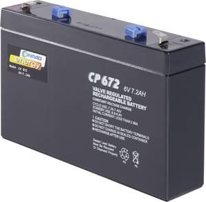 Conrad energy CE6V/7Ah 250129 Ólomakku 6 V 7 Ah Ólom-vlies (AGM) (Sz x Ma x Mé) 151 x 94 x 34 mm 4,8 mm-es laposérintkez Conrad energy