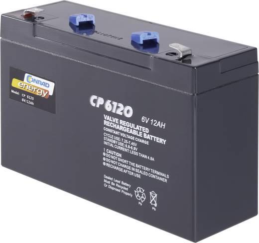 Conrad karbantartás mentes zselés akkumulátor, 6 V 12 Ah