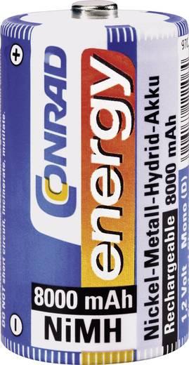 Góliát akku D NiMH, 1,2V 8000 mAh, Conrad Energy HR20, LR20, D, AM1, XL, MN1300, 813, E95, LR20N, 13A