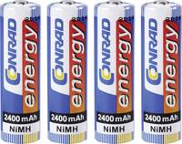Ceruza akku AA, NiMH, 1,2V 2400 mAh, 4 db,  LR06, AA, LR6, AAB4E, AM3, 815, E91, LR6N, Conrad Energy Conrad energy