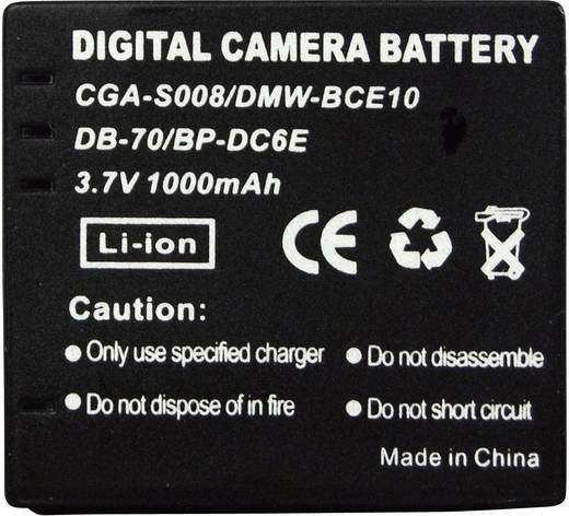 CGA-S008, DP-330, DMW-BCE10, DB-70, BP-DC6E Panasonic, Ricoh, Leica kamera akku 3,7 V 650 mAh, Conrad energy