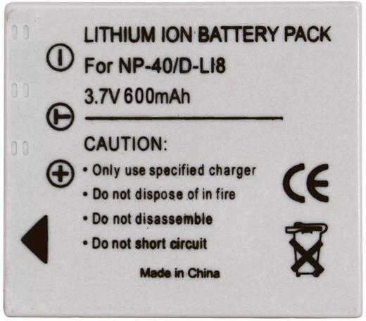 NP-40, D-L18, SLB-0737, SLB-0837 Fujifilm, Pentax, Panasonic, Samsung kamera akku 3,7V 600 mAh, Conrad Energy 250626
