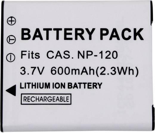 NP-120 Casio kamera akku 3,7 V 500 mAh, Conrad energy