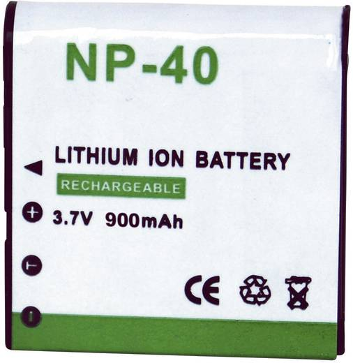 NP-40 Casio kamera akku 3,7 V 900 mAh, Conrad energy