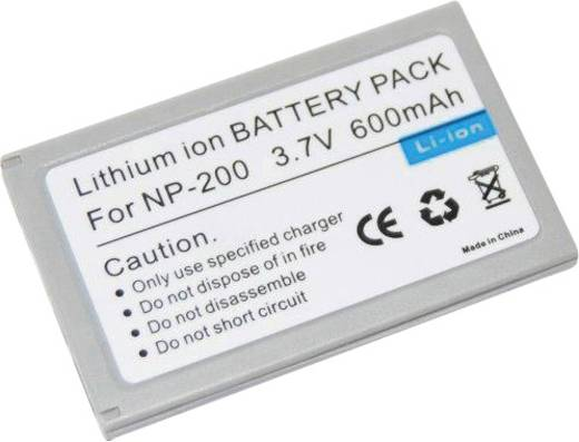 NP-200 Minolta kamera akku 3,7 V 750 mAh, Conrad energy