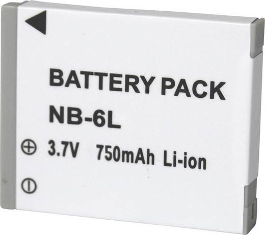 NB-L6 Canon kamera akku 3,7 V 600 mAh, Conrad energy
