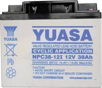 YUASA zselés akkumulátor, 12 V 38 Ah, ciklikus üzemre Yuasa