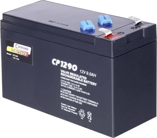 Karbantartásmentes ólomakku Conrad energy 9 Ah, 6,35 mm laposérintkezős dugó, 12 V, 9 Ah, 151 x 65 x 94 mm CE12V/9Ah
