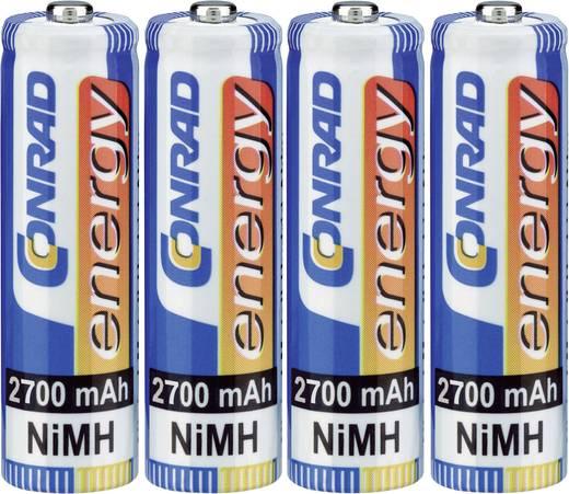 Conrad energy NiMH akkukészlet, 4 db ceruzaakku, 2700 mAh, 1.2 V, 4 db mikroakku, 900 mAh, 1.2 V.