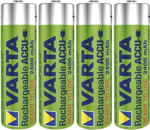 Ceruza akku AA, NiMH, 1,2V 2400 mAh, 4 db, Varta Ready2Use LR06, AA, LR6, AAB4E, AM3, 815, E91, LR6N