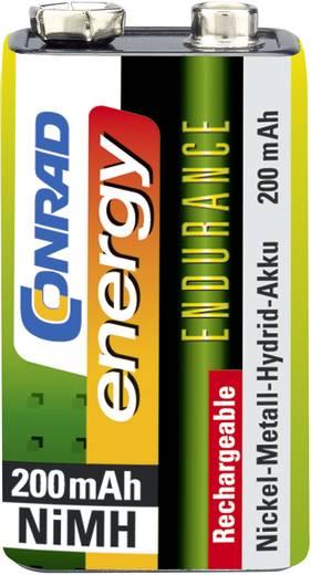 9V akku NiMH 8,4 V 200 mAh, Conrad Energy Endurance 6LR61, HR6F22, HR9V, HR22, 6LR21, 6AM6, 6LP3146, MN1604, E Block