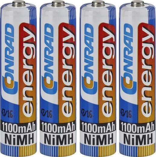 Mikroceruza akku AAA NiMH, 1,2V 1100 mAh, 4 db, Conrad Energy HR3, HR03, UO100557, DC2400, DC2400B4N, LR03