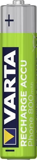Mikroceruza akku AAA NiMH, 1,2V 800 mAh, 2 db, Varta Phonepower HR3, HR03, UO100557, DC2400, DC2400B4N, LR03