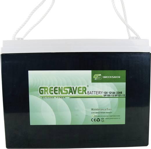 Ólomakku 12 V 125 Ah Greensaver SP125-12 SP12512 328 x 171 x 242 mm Karbantartásmentes,Ciklusálló