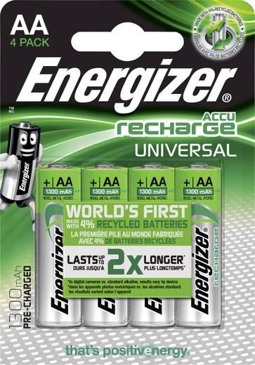 Ceruza akku AA, NiMH, 1,2V 1300 mAh, 4 db, Energizer Universal LR06, AA, LR6, AAB4E, AM3, 815, E91, LR6N