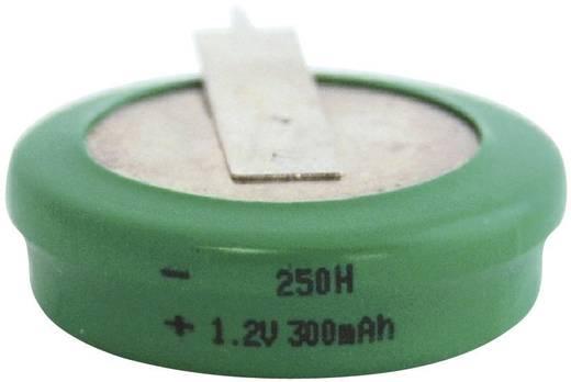 250H gombakku NiMH, beforrasztható, álló, 1,2 V 300 mAh, Emmerich
