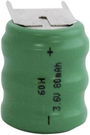 60H gombakku NiMH, beforrasztható, 3,6 V 80 mAh, Emmerich
