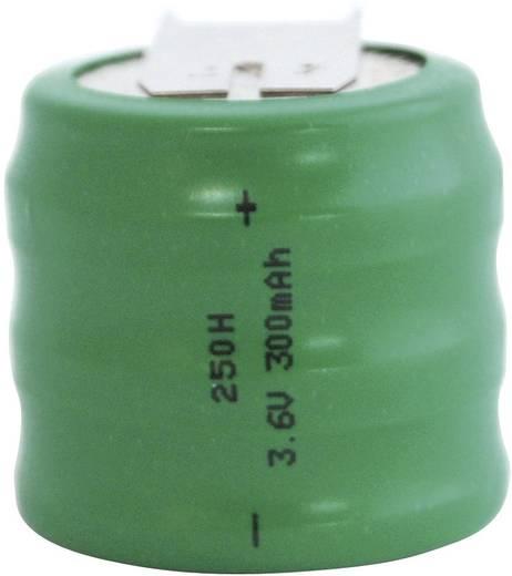 250H gombakku NiMH, beforrasztható, 3,6 V 300 mAh, Emmerich