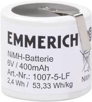 Akkucsomag, NiMH Emmerich speciál, 32, 6 V Z-forrfüllel Emmerich 400 mAh, 5, speciális akku, NiMH, 1 db, 1007-5-LF (251560) Emmerich