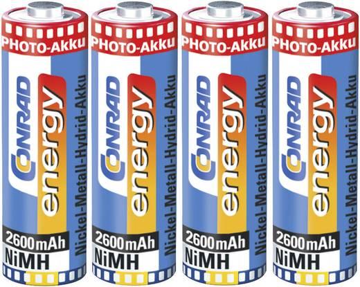 Ceruza akku AA, NiMH, 1,2V 2600 mAh, 4 db, Conrad Energy Photo LR06, AA, LR6, AAB4E, AM3, 815, E91, LR6N