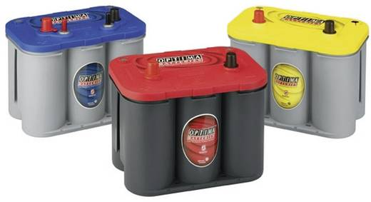 Ólomakku 12 V 44 Ah Optima Batteries RTS37 8202550008882 Ólom-vlies (AGM) 237 x 197 x 172 mm Karbantartásmentes