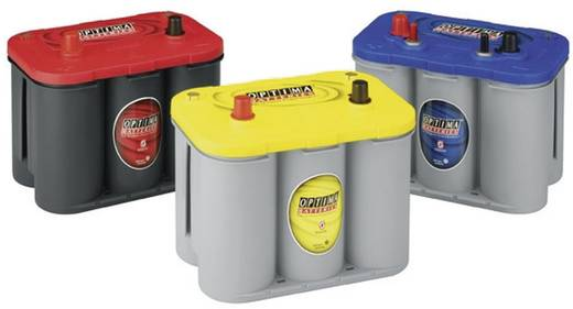 Ólomakku 12 V 55 Ah Optima Batteries YTS4.2 8122540008882 Ólom-vlies (AGM) 254 x 200 x 175 mm Karbantartásmentes