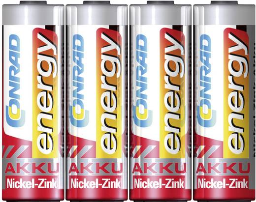 Ceruza akku AA, NiZn, 1,6V 2500 mWh, 4 db, Conrad Energy LR06, AA, LR6, AAB4E, AM3, 815, E91, LR6N