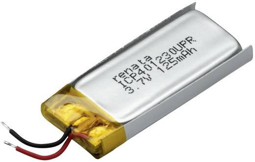 Renata lítium-polimer akku 3,7 V, 130 mAh, 31 x 12,7 x 4,5 mm, ICP401230UPR