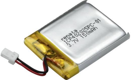 Renata lítium-polimer akku 3,7 V, 155 mAh, 27,5 x 20,5 x 4,3 mm, ICP402025PC