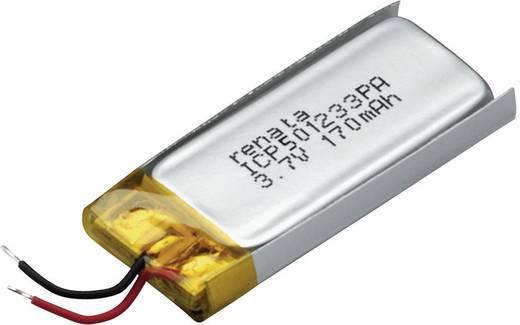 Renata lítium-polimer akku 3,7 V, 175 mAh, 35 x 12 x 5,3 mm, ICP501233PA