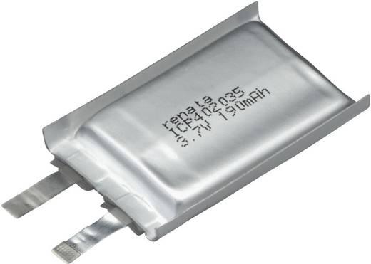 Renata lítium-polimer akku 3,7 V, 195 mAh, 35 x 20 x 4,4 mm, ICP402035