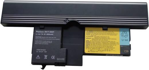 Akku a Thinkpad Lenovo X60/X51-hoz, táblagéphez, 4400 mAh