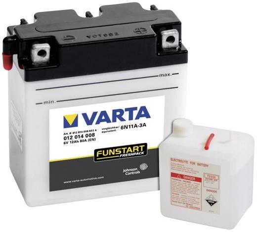 Motorkerékpár akku, fűnyíró, Quad 6V-os akkumulátor Varta 6N11A-3A 6 V 12 Ah ETN 012014008