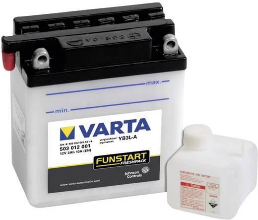 Motorkerékpár akku, fűnyíró, Quad 12V-os akkumulátor Varta YB3L-A 12 V 3 Ah ETN 503012001
