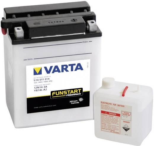 Motorkerékpár akku, fűnyíró, Quad akkumulátor Varta 12N14-3A, YB14L-A2 12 V 14 Ah ETN 514011014