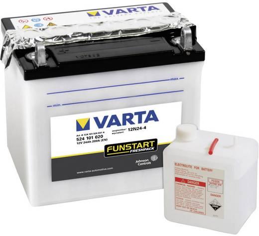 Motorkerékpár akku, fűnyíró, Quad 12V-os akkumulátor Varta 12N24-4 12 V 24 Ah ETN 524101020