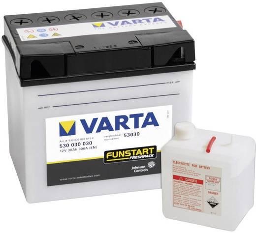 Motorkerékpár akku, fűnyíró, Quad 12V-os akkumulátor Varta 53030 12 V 30 Ah ETN 530030030