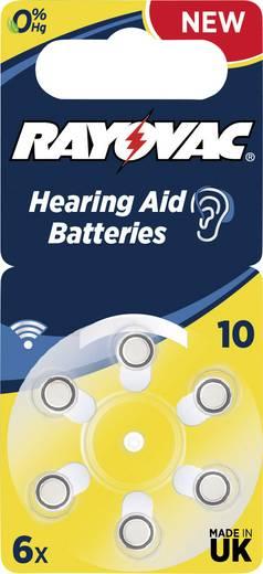 ZA10 hallókészülék elem, cink-levegő, 1,4V, 105 mAh, 6 db, Rayovac ZA10, PR70